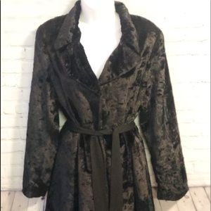 Bebe Crushed Velvet Trench Coat